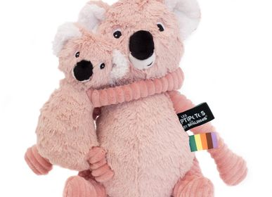 Soft toy - Trankilou the Koala Mom Baby Pink - LES DEGLINGOS