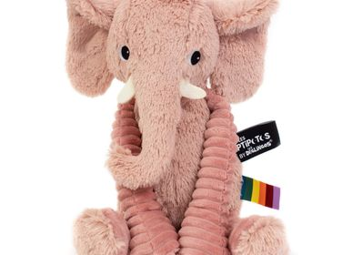 Soft toy - Plush Ptipotos the Pink Elephant - LES DEGLINGOS