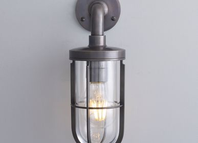 Wall lamps - Ship's Well Glass Wall Light, Weathered Brass - ORIGINAL BTC