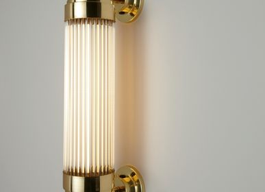 Wall lamps - Pillar Offset Wall Light, Polished Brass - ORIGINAL BTC