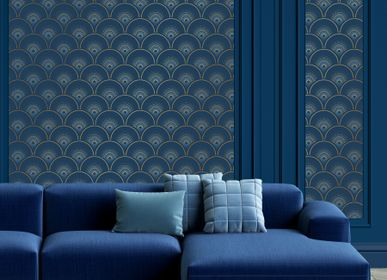 Other wall decoration - Wallpaper Han'i Cobalt Doré - PAPERMINT