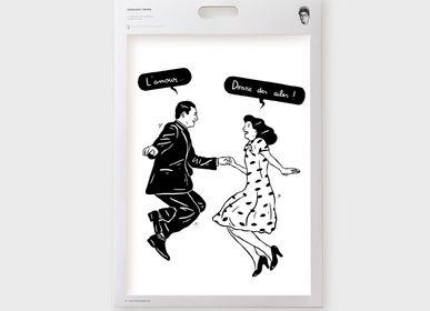 Affiches - Affiches / Illustrations - Noir et blanc - Cloé Bourguignon - SERGEANT PAPER