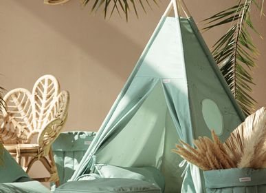 Children's decorative items - MINTY GREEN TEEPEE SET - WIGIWAMA