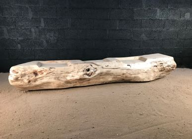 Panels - Driftwood bench and stool - DECO-NATURE