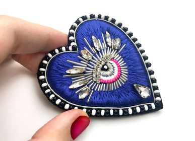 Jewelry - Rosa Brooch - CHRISTINE'S - HANDMADE DESIGNERS ACCESSORIES
