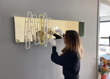 """Paintings - Mirror and neon work """"B00K"""" - CAROLINE BAUP"""
