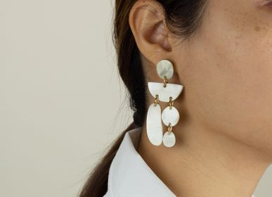 Jewelry - Natural Horn Earrings - L'INDOCHINEUR PARIS HANOI