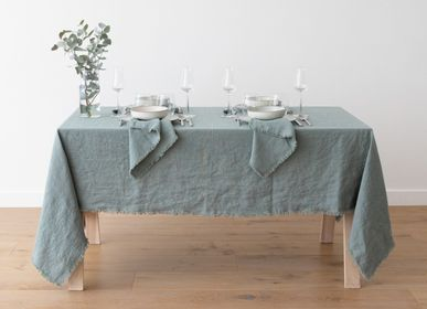 Napkins - LinenMe Terra Fringe Tablecloth and Napkins - LINENME