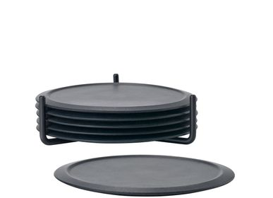 Placemats - Coasters w holder Black Singles - ZONE DENMARK