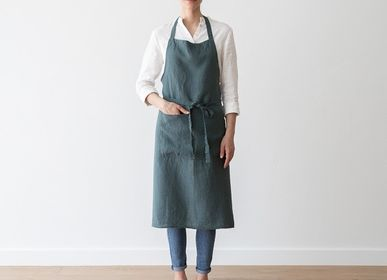 Aprons - STONE WASHED LINEN APRONS - LINENME
