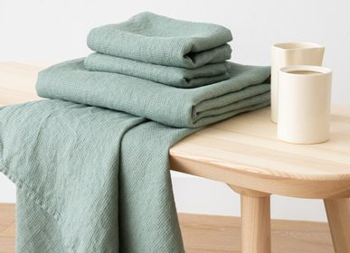 Bath towels - Linen Bath & Hand towels Washed Waffle - LINENME