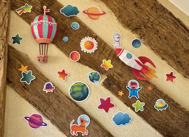Other wall decoration - Paper Decorations - Easy Peasy Trophy Rocket and Hot Air Balloon - AGENT PAPER