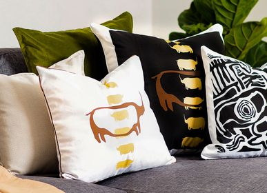 Fabric cushions - TSODILO BLACK IVORY CUSHION - SOMETHING SINCERE