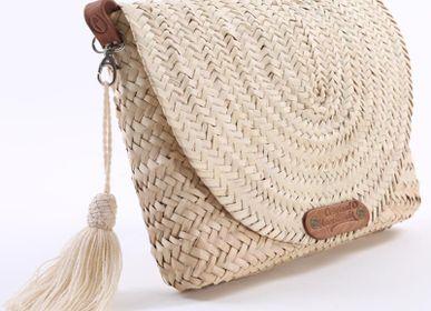 Clutches - Straw & Leather Clutch - ORIGINAL MARRAKECH