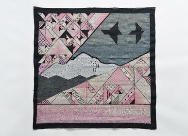 "Other wall decoration - EMBROIDERED TAPESTRIES ""TSUGARU"" SPRING - KIDA YOKO"