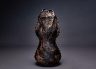 Ceramic - Albanegra XXXII Sculpture - CLAIRE FRECHET