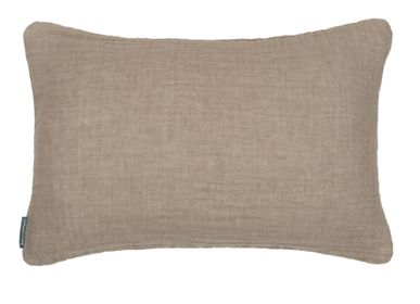 Fabric cushions - Waffled Linen Cushions - LE MONDE SAUVAGE BEATRICE LAVAL