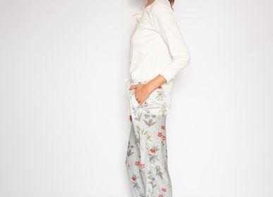 "Homewear - Pajama Stockings ""Violet"" - LALIDE A PARIS"