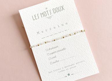 Bijoux - Bracelet Code Morse : Marraine à cocher - LES MOTS DOUX