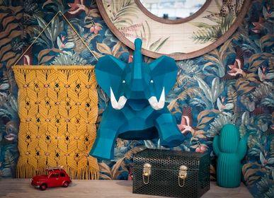 Autres décorations murales - Décoration en papier - Trophée Eléphant  - AGENT PAPER