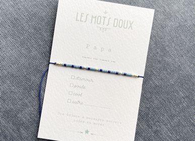Bijoux - Bracelet Code Morse : Papa à cocher - LES MOTS DOUX
