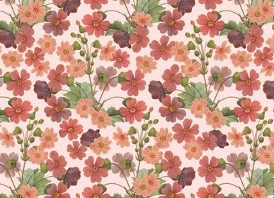 """Papeterie - Papier décoratif """"Primula Sinensis"""" - TASSOTTI - ITALY"""