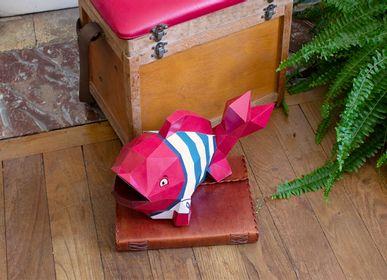 Objets de décoration - Décoration en papier - trophée poisson  - AGENT PAPER