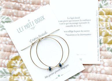 "Jewelry - ""Lapis Lazuli"" Magic Stone Creoles - LES MOTS DOUX"