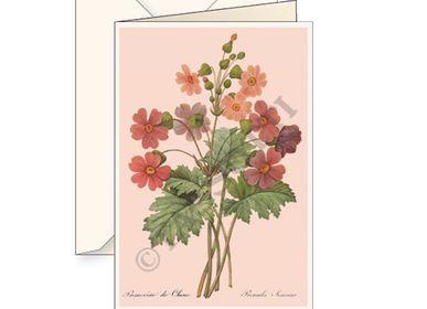 """Carterie - Cartes de vœux avec enveloppe """"Primula Sinensis"""" - TASSOTTI - ITALY"""