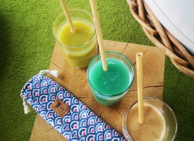 Kitchen utensils - Pouch of 6 bamboo straws: €2 donated to Earthwake - PANDA PAILLES