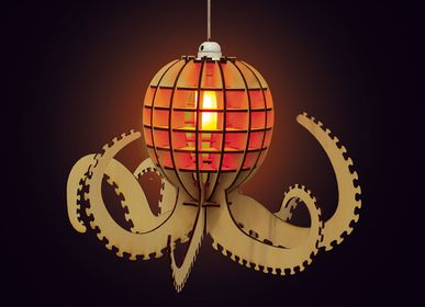 Decorative objects - Wooden decoration - Octopus lamp - AGENT PAPER