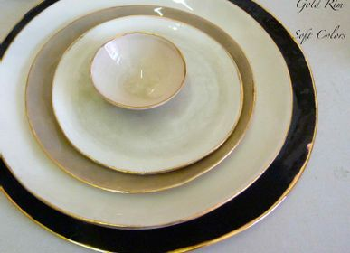Platter and bowls - Gold Rim  - POTOMAK STUDIO