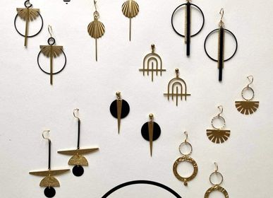 Jewelry - Gold plated brass earrings - NAO JEWELS