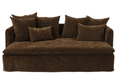 Sofas for hospitalities & contracts - Sofa Boho Playground 230 Velours Vintage Havane  - MAISON DE VACANCES