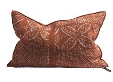 Fabric cushions - Cushion Vice Versa Wabi Sabi Linen Bogolan Henné - MAISON DE VACANCES