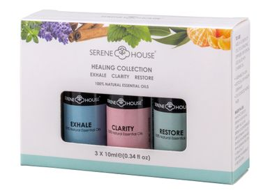 Scent diffusers - Healing Collection- 3 X 10ml- Exhale, Clarity, Restore - SERENE HOUSE