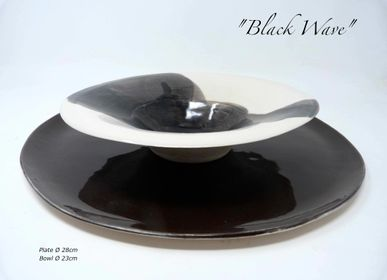 Platter and bowls - BLACK&WHITE - POTOMAK STUDIO