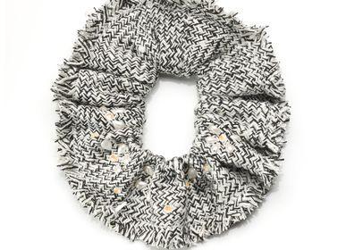 Hair accessories - Tweed scrunchie CAMILA - VALÉRIE VALENTINE