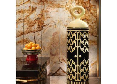Shelves - Madame Verdoux Bar Cabinet - SCARLET SPLENDOUR