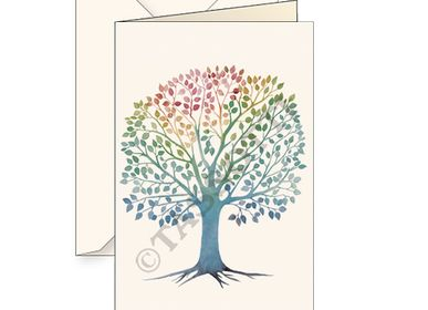 "Card shop - Greeting cards with envelope ""Albero della Vita"" - TASSOTTI - ITALY"