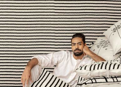 Fabric cushions - ADIRA Embroidered Cushion cover - NO-MAD 97% INDIA