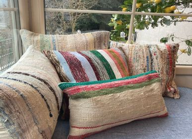 Fabric cushions - Vintage Kilim Chaput Cushion Cover Cotton Unique Handmade  - LALAY