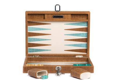 Leather goods - Backgammon medium I Alligator effect leather - HECTOR SAXE PARIS DEPUIS 1978