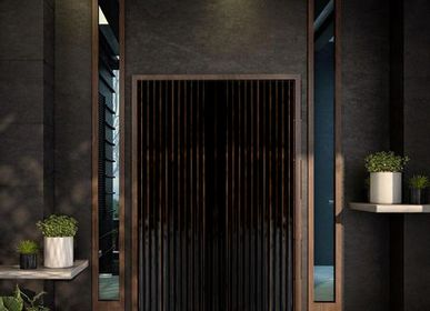 Panels - The Fluted Door in Enamelled Copper - BAAYA GLOBAL