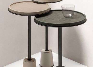 Autres tables  - SORRENTO TABLE D'APPOINT EN CUIR - GIOBAGNARA
