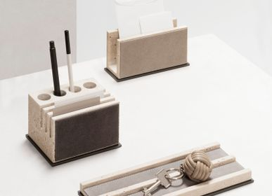 Office sets - LATINA MARBLE / LEATHER & MARBLE DESK SET - GIOBAGNARA