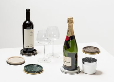 Wine accessories - POSITANO MARBLE BOTTLE COASTER - GIOBAGNARA