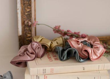 Hair accessories - Silk satin scrunchie OCEANE - VALÉRIE VALENTINE