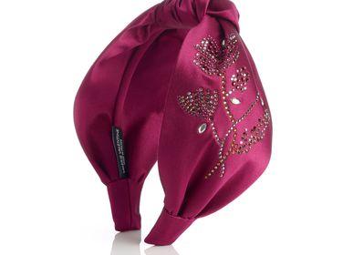 Hair accessories - Silk and Swarovski® crystals Knot Hairband YUMI - VALÉRIE VALENTINE