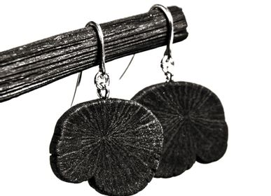 Jewelry - Earrings MIMI-WA/EDA/FULI - CHARCOAL ESKIMEÏT